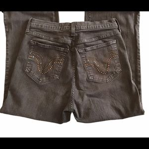 NYDJ brown cropped jeans high waist size 8